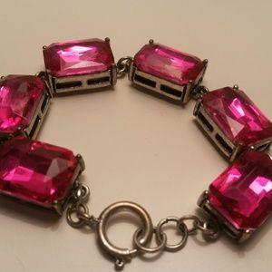 hot pink stone bracelet